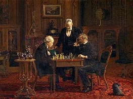 The Chess Players, 1876 by Thomas Eakins | Painting Reproduction
