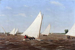 Sailboats Racing on the Delaware | Thomas Eakins | Gemälde Reproduktion