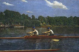 The Biglin Brothers Racing, 1872 by Thomas Eakins | Painting Reproduction