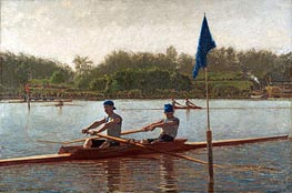 The Biglin Brothers Turning the Stake Boat, 1873 by Thomas Eakins | Painting Reproduction
