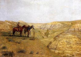 Cowboys in the Badlands, 1888 by Thomas Eakins | Painting Reproduction