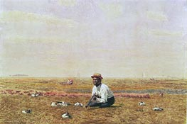 Whistling for Plover, 1874 by Thomas Eakins | Painting Reproduction