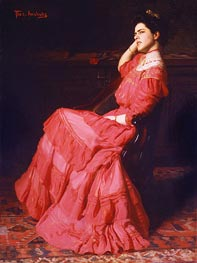 A Rose, 1907 by Thomas Eakins | Painting Reproduction