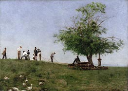 Mending the Net | Thomas Eakins | Gemälde Reproduktion