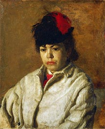 Portrait of Margaret Eakins in a Skating Costume, c.1871 by Thomas Eakins | Painting Reproduction