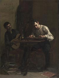 Professionals at Rehearsal, 1883 by Thomas Eakins | Painting Reproduction