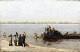 Shad Fishing at Gloucester on the Delaware River, 1881 by Thomas Eakins | Painting Reproduction