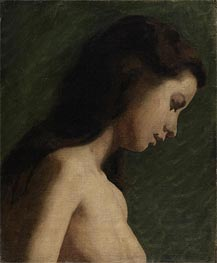 Study of a Young Woman, c.1868 by Thomas Eakins | Painting Reproduction