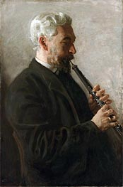 The Oboe Player (Portrait of Dr. Benjamin Sharp), 1903 by Thomas Eakins | Painting Reproduction