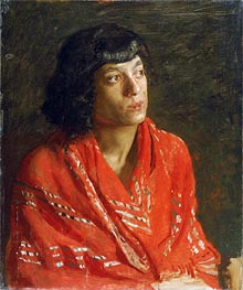 The Red Shawl, c.1890 by Thomas Eakins | Painting Reproduction