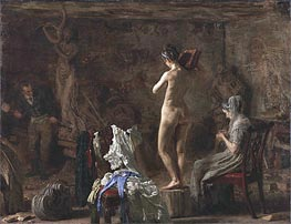 William Rush Carving His Allegorical Figure of the Schuylkill River, c.1876/77 by Thomas Eakins | Painting Reproduction