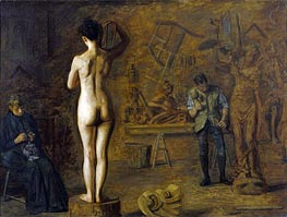 William Rush Carving His Allegorical Figure of the Schuylkill River, 1908 by Thomas Eakins | Painting Reproduction