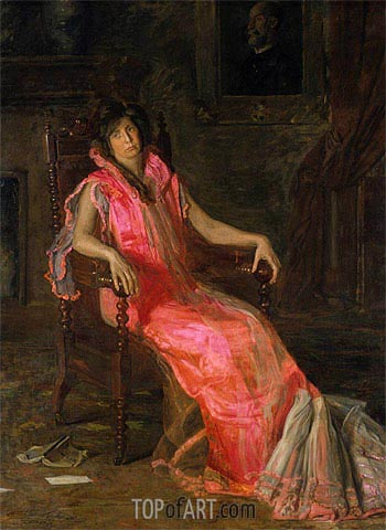 The Actress (Portrait of Suzanne Santje), 1903 | Thomas Eakins| Painting Reproduction