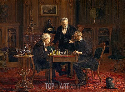 The Chess Players, 1876 | Thomas Eakins| Painting Reproduction