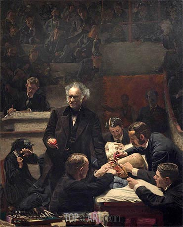 The Gross Clinic, 1875 | Thomas Eakins | Gemälde Reproduktion