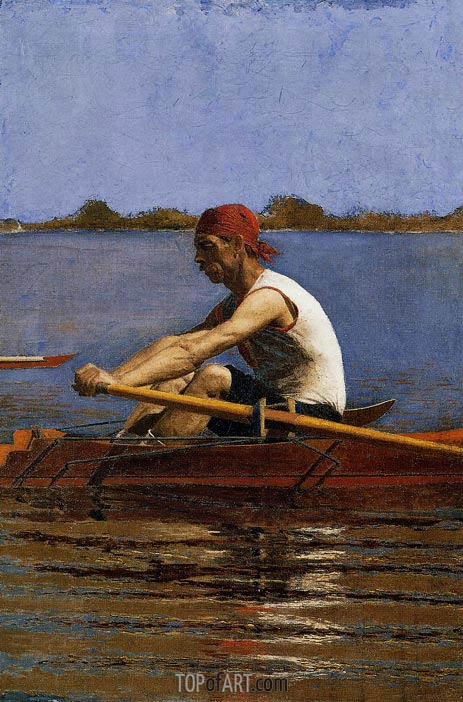 John Biglin in a Single Scull, c.1873/74 | Thomas Eakins | Gemälde Reproduktion