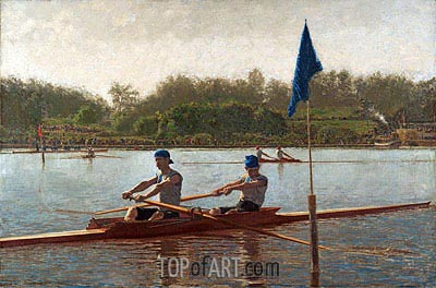 The Biglin Brothers Turning the Stake Boat, 1873 | Thomas Eakins | Gemälde Reproduktion