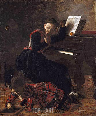 Home Scene, c.1871 | Thomas Eakins| Painting Reproduction