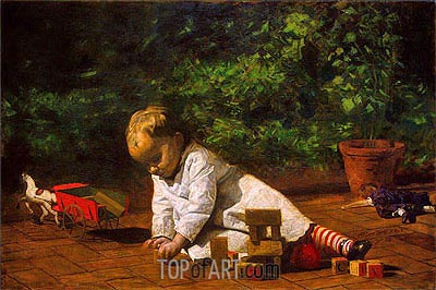 Baby at Play, 1876 | Thomas Eakins | Painting Reproduction