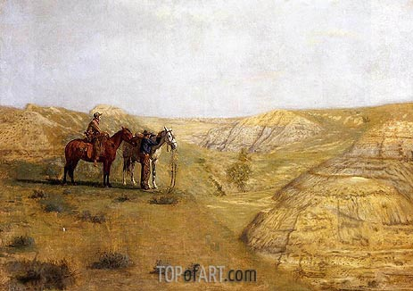 Cowboys in the Badlands, 1888 | Thomas Eakins | Painting Reproduction