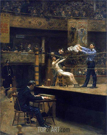 Between Rounds, c.1898/99 | Thomas Eakins| Gemälde Reproduktion