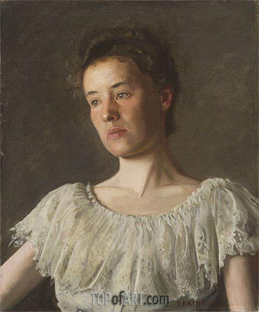Portrait of Miss Alice Kurtz, 1903 | Thomas Eakins | Gemälde Reproduktion