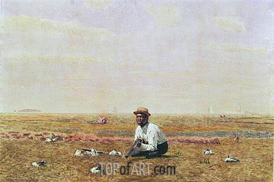 Whistling for Plover, 1874 | Thomas Eakins | Gemälde Reproduktion