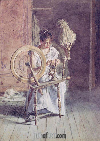 Spinning, 1881 | Thomas Eakins | Painting Reproduction