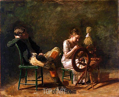 The Courtship, c.1878 | Thomas Eakins | Painting Reproduction