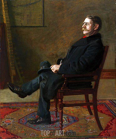Frank Jay St. John, 1900 | Thomas Eakins | Painting Reproduction