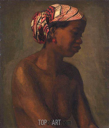 Negress, c.1867/69 | Thomas Eakins | Painting Reproduction
