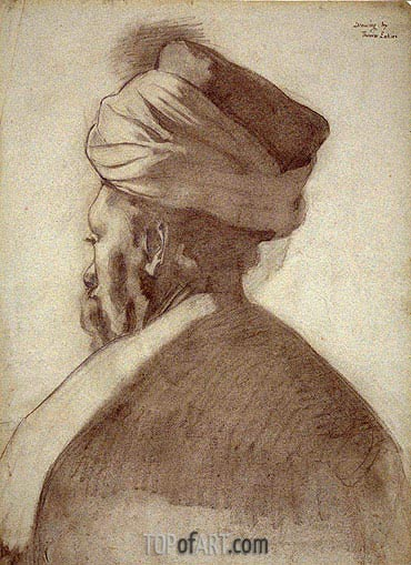 Man in a Turban, c.1866/67 | Thomas Eakins | Gemälde Reproduktion
