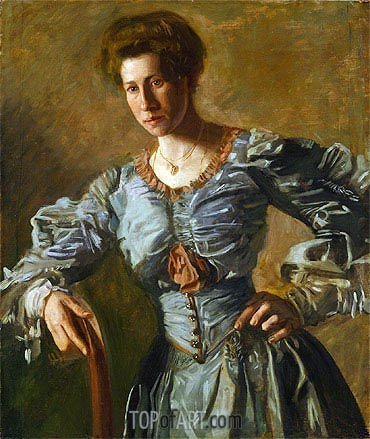 Portrait of Elizabeth L. Burton, c.1905/06 | Thomas Eakins | Painting Reproduction