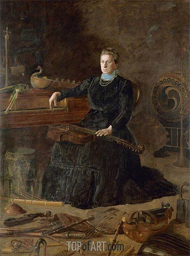 Antiquated Music (Portrait of Sarah Sagehorn Frishmuth), 1900 | Thomas Eakins | Painting Reproduction
