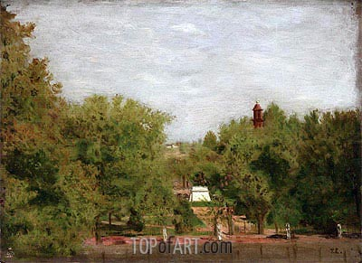 Lafayette Park, Washington, 1877 | Thomas Eakins | Gemälde Reproduktion