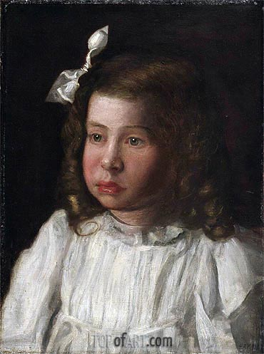 Portrait of a Little Girl, c.1895/00 | Thomas Eakins | Painting Reproduction