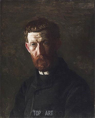 Portrait of Arthur Burdett Frost, c.1886 | Thomas Eakins| Painting Reproduction