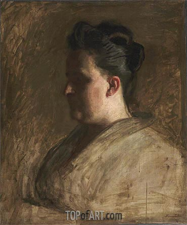 Portrait of Blanche Hurlburt, c.1885/86 | Thomas Eakins| Painting Reproduction