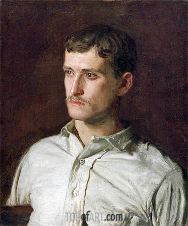 Portrait of Douglass Morgan Hall, c.1889 | Thomas Eakins| Painting Reproduction