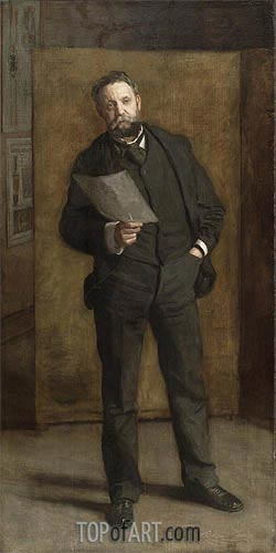 Portrait of Leslie W. Miller, 1901 | Thomas Eakins| Painting Reproduction