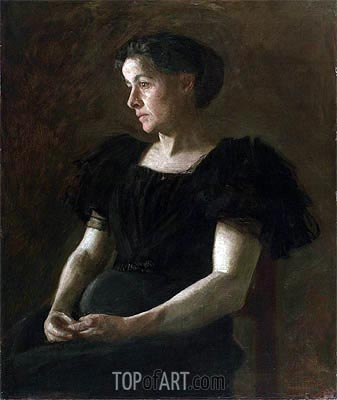 Portrait of Mrs. Frank Hamilton Cushing, 1895 | Thomas Eakins | Painting Reproduction