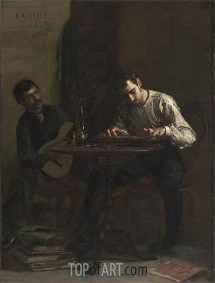Professionals at Rehearsal, 1883 | Thomas Eakins| Painting Reproduction