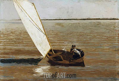 Sailing, c.1875 | Thomas Eakins | Painting Reproduction
