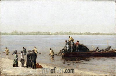 Shad Fishing at Gloucester on the Delaware River, 1881 | Thomas Eakins | Gemälde Reproduktion