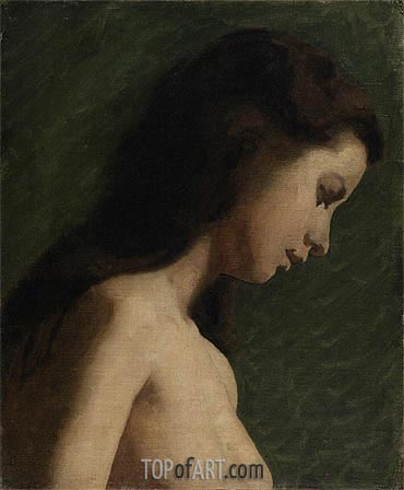 Study of a Young Woman, c.1868 | Thomas Eakins | Painting Reproduction