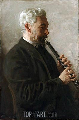 The Oboe Player (Portrait of Dr. Benjamin Sharp), 1903 | Thomas Eakins | Painting Reproduction