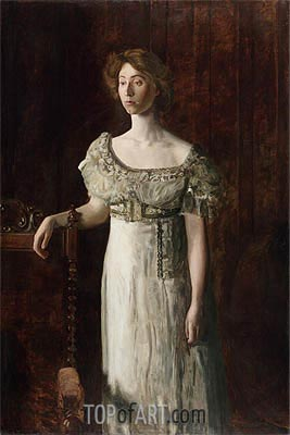 The Old-Fashioned Dress (Portrait of Helen Montanverde Parker), c.1908 | Thomas Eakins | Painting Reproduction