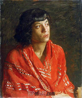 Thomas Eakins | The Red Shawl, c.1890