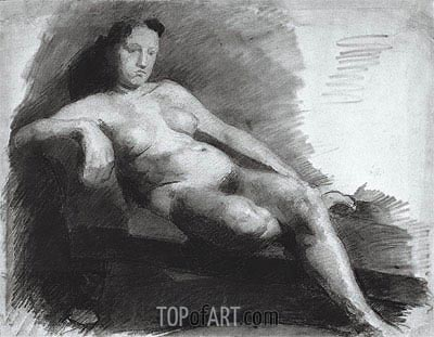 Reclining Female Nude, c.1863/66   Thomas Eakins   Painting Reproduction