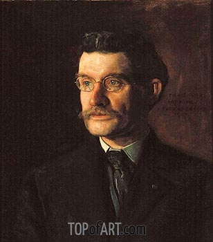 Portrait of Thomas J. Eagan, 1907 | Thomas Eakins| Painting Reproduction